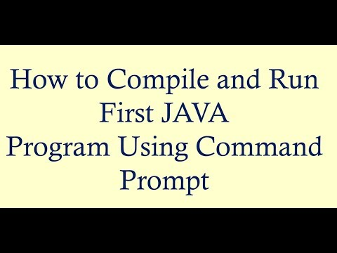 Download Compile And Run Java Program Using Command Prompt Video 3GP
