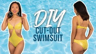 DIY O-Ring Cutout Swimsuit | Made From Scratch