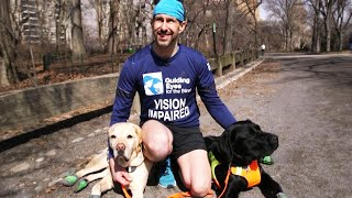 Blind Runner Makes History at Half Marathon With Guide Dogs