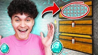 I Found My Little Brother's SECRET Diamond Room in Minecraft