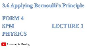 [中文解说][Lecture 1] Ch3.6 Applying Bernoulli's Principle