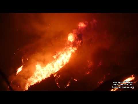 Thomas Fire - Huge Flames Santa Barbara California - By Douglas Thron Ventura firestorm 2017