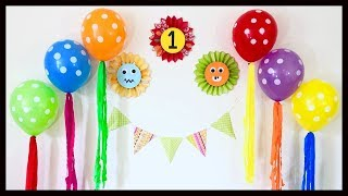 Very Easy Birthday Party Decoration At Home / First Birthday Decoration Ideas - Party Decorations.