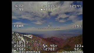 High altitude FPV flight over mountains