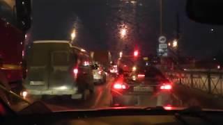 Сложный путь Для получения Прав Автовождения в ГИБДД на Маршруте в Темное Время.