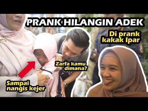 PRANK ADEK HILANG DI GONDOL JIN! NANGIS! Meira Kaka Ipar JAHIL! :p