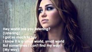 Someday - Miley Cyrus (lyrics)