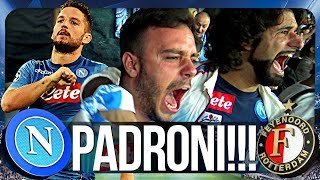 NAPOLI 3-1 FEYENOORD | PADRONI!!! REAZIONE NAPOLETANI CHAMPIONS LEAGUE CURVA B HD