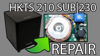 Harman Kardon Subwoofer HKTS 210 sub/230 reparieren | deutsch | Netzteil defekt | Canton SUB | SVS