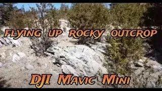 DJI MAVIC MINI DRONE - #58 - low flying up a ROCKY HILLSIDE