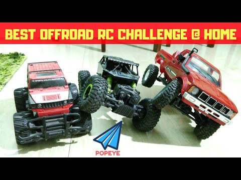 Hummer Vs HB Rock Crawler Vs WPL C24 Offroad At HOME | BEST OFFROAD RC CARS | RC WITH POPEYE