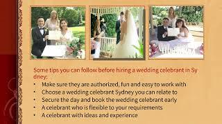 Best tips ever for considering wedding celebrant Sydney before hiring them