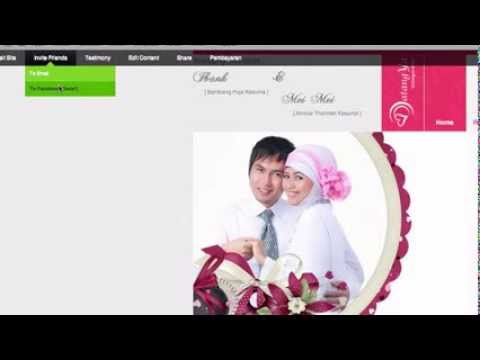 Video Cara menyebarkan undangan pernikahan ke facebook melalui datangya.com