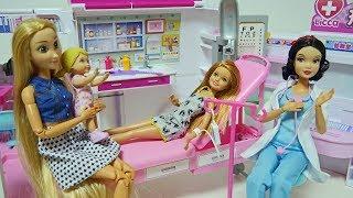 Barbie Ambulance Toy & Hospital Fanny Smile Story