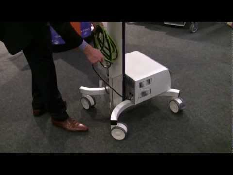 Draadloze monitor cart met accu-voeding, Wireless monitor cart with own power support