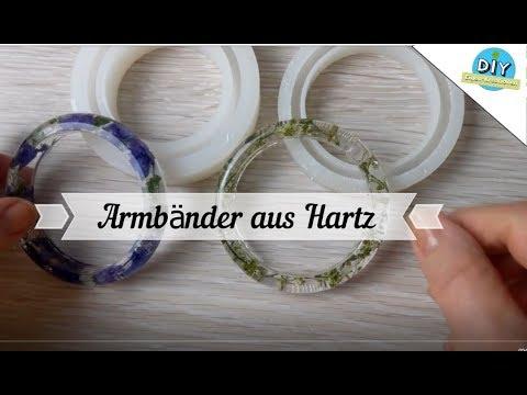 Armreifen aus Gießharz mit echte getrocknete Blumen I DIY Eigen Kreationen