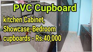 PVC Kitchen Cabinet   PVC Cupboard Work #pvc #kitchencupboard #lowbudget