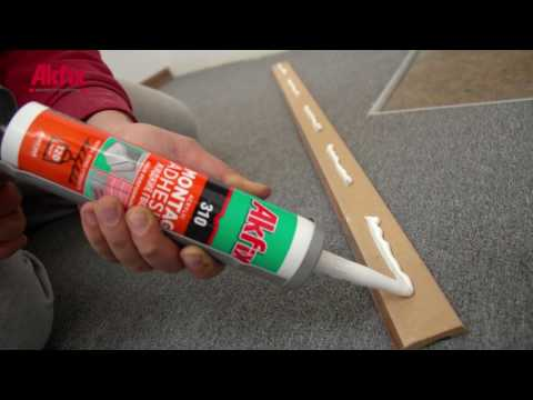 A Simple Trick to Install Baseboard Perfectly (No Nail)