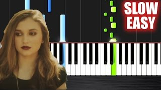 The Chainsmokers - Don't Let Me Down ft. Daya - SLOW EASY Piano Tutorial by PlutaX