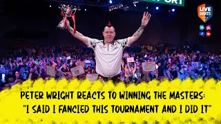 "Peter Wright reacts to ""lucky"" win at the 2020 Ladbrokes Masters"