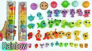 LPS Rainbow Glitter Animal Haul with Colorful Babies and Surprise Littlest Pet Shop
