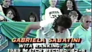 Gabriela Sabatini Vs Jana Novotna Toronto 1989