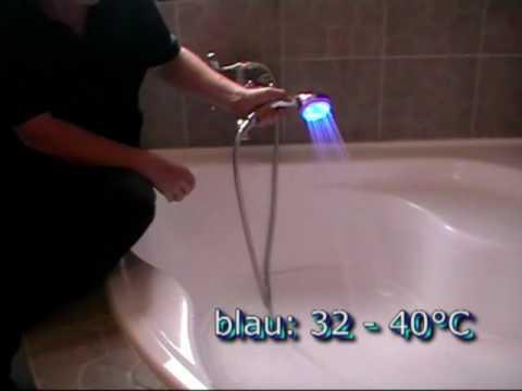 LED Duschkopf mit Farbwechsel - das Video