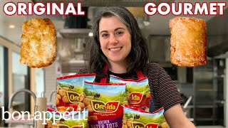 Pastry Chef Attempts to Make Gourmet Tater Tots | Gourmet Makes | Bon Appétit