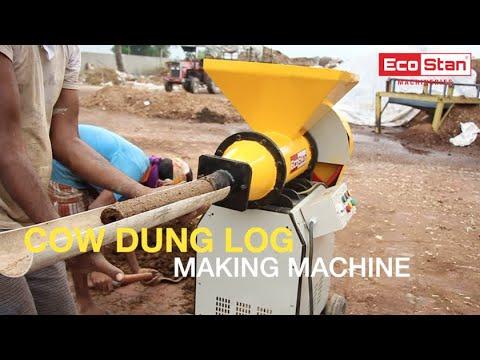 Cow Dung Log Making Machine