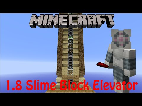 Very Compact Slime Block Elevator Minecraft Project