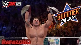 WWE 2K16: SummerSlam 2014 in 60 Seconds!