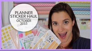 Planner Stickers Haul | October 2015