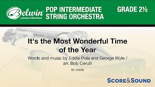 It's the Most Wonderful Time of the Year, arr. Bob Cerulli – Score & Sound