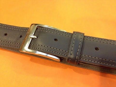 fabricacion de un cinturon de piel