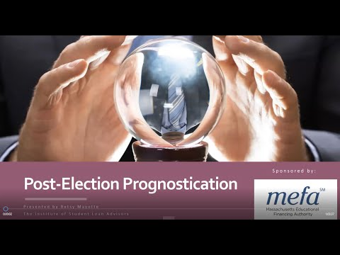 The MEFA Institute: Post-Electoral Prognostication: Predicting Higher Education and Student Loan Policy Initiatives Under the New Administration with Betsy Mayotte from TISLA
