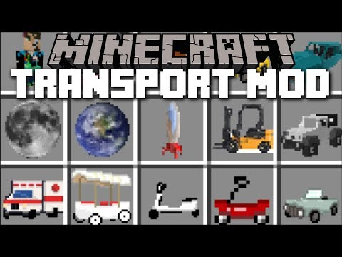 Minecraft TRANSPORT MOD / TRAVEL THROUGH SPACE ROCKETS TO THE MOON!! Minecraft