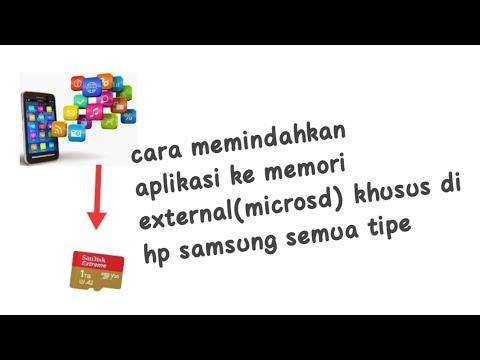 Cara menidahkan aplikasi ke memori external(microsd) khusus hp samsung semua tipe