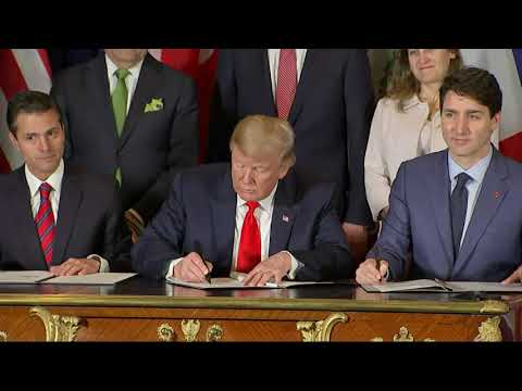 The U.S., Canada and Mexico signed the new United States-Mexico-Canada Agreement on Friday. The new deal replaces NAFTA, the North American Free Trade Agreement from the 1990s. (Nov. 30)