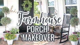 DIY FRONT PORCH MAKEOVER ON A BUDGET | FARMHOUSE PORCH IDEAS | EASY PORCH DIYS