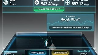 Google Fiber Internet Speed Test