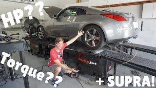 Taking my Nissan 350Z on the DYNO! + 2020 Toyota Supra!