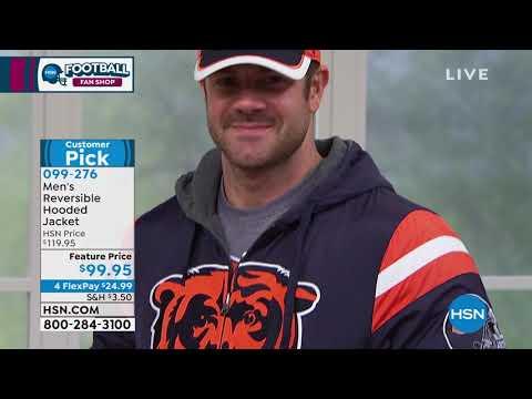 Officially Licensed NFL Hardball Reversible Hooded Jacke...