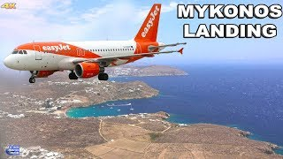 LANDING IN MYKONOS AIRPORT - GREECE 4K