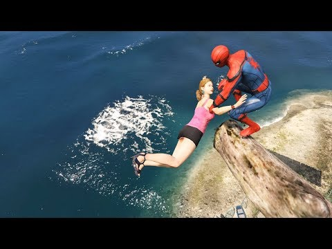 GTA 5 Water Ragdolls | Spider-Man Funny Fails ep.36  (Euphoria Physics)