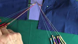 Bobbin Lacemaking Tutorial Torchon Ground - Half Stitch Pin Half Stitch
