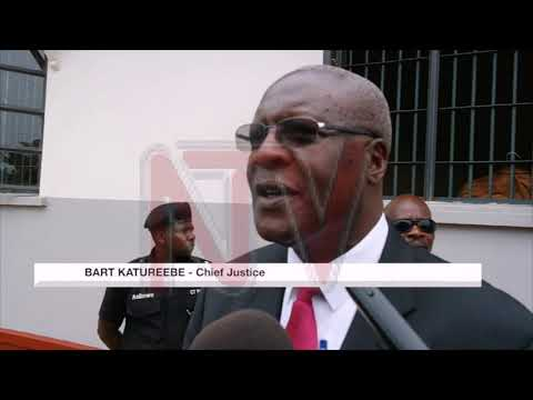 Chief Justice, Bart Katureebe promises to deal with case backlog