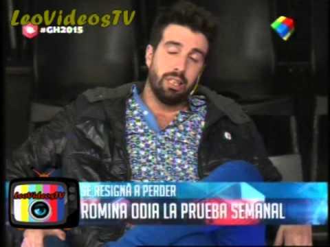Romina no quiere practicar la prueba semanal circense GH 2015 #GH2015 #GranHermano