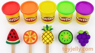 Toy Ice Cream Play Doh Popsicles Learn Colors for Babies Toddlers Preschoolers Kinder Surprise Eggs