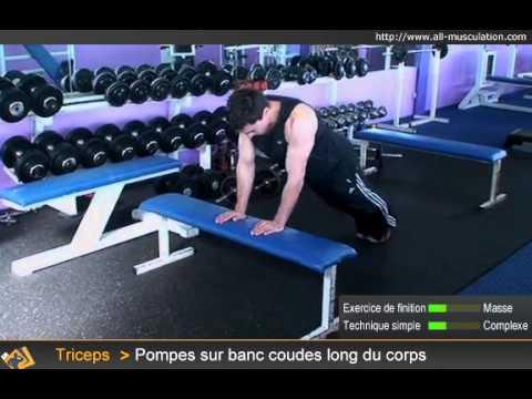 Les exercices sur les muscles pectoraux la salle de musculation