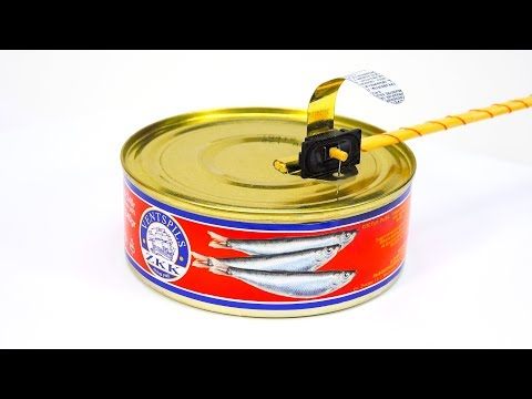 Turntable from tins – DIY